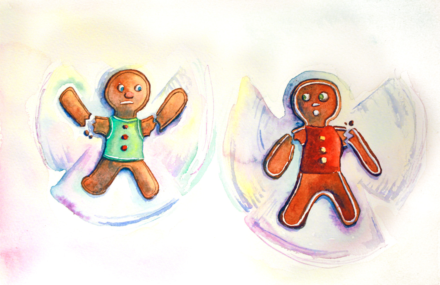 Gingerbread snow angels